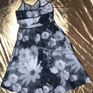 mica Dresses - Mica pixilated dress spaghetti straps floral black